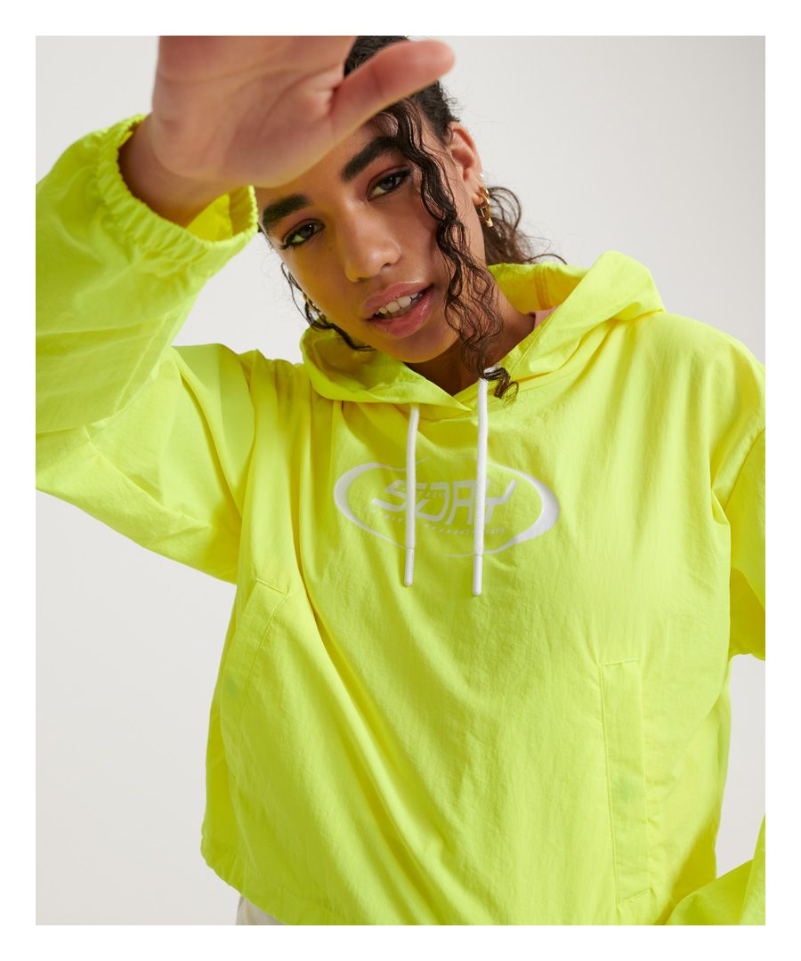 Image for Superdry Neon Cropped Overhead Packaway Jacket