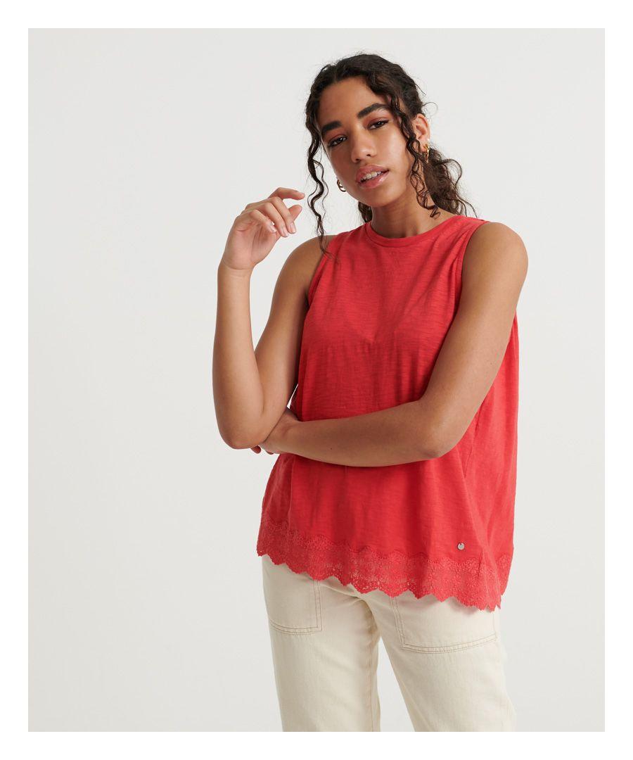 Image for Superdry Lace Mix Vest Top