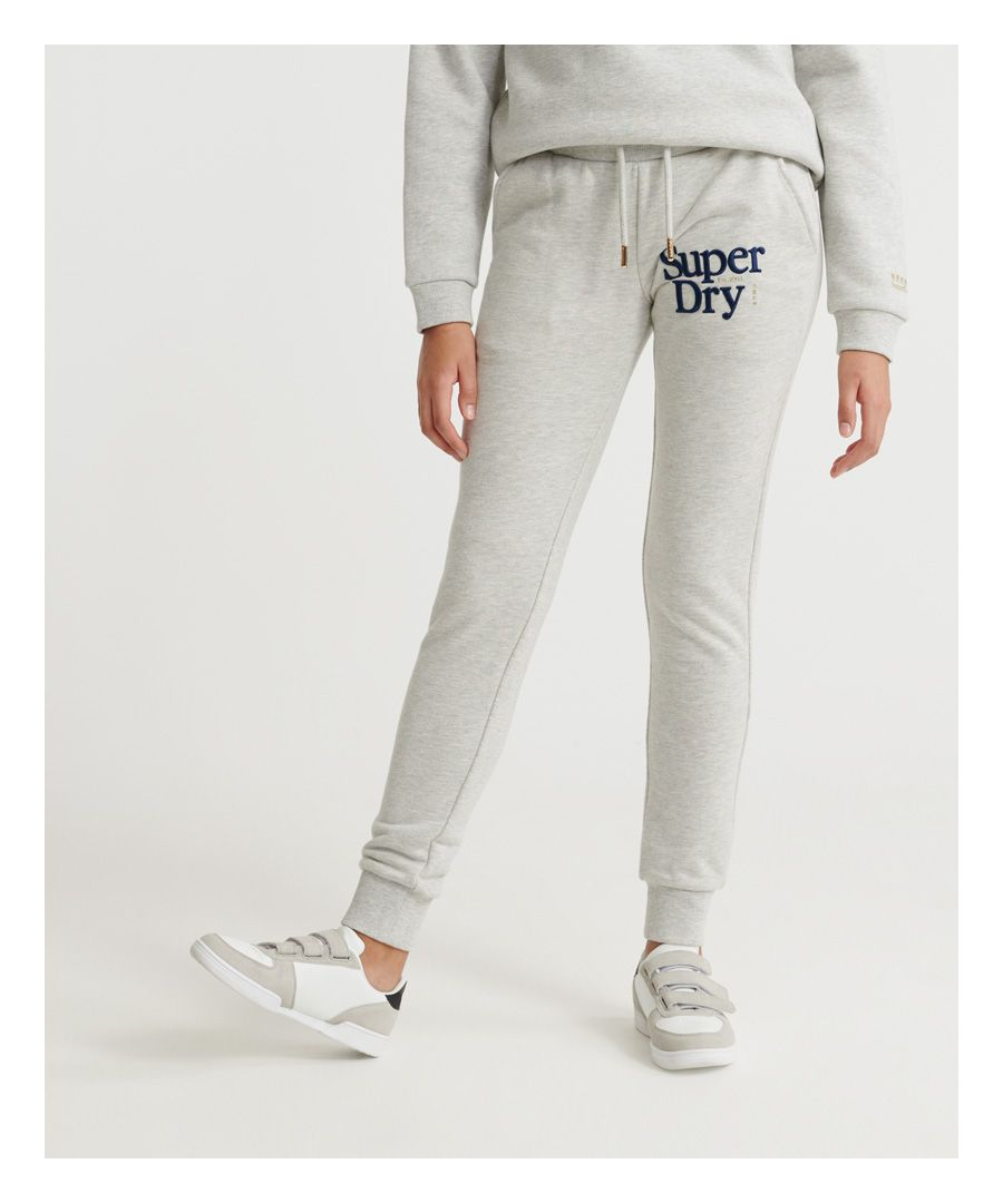 Image for Superdry Applique Serif Loopback Joggers