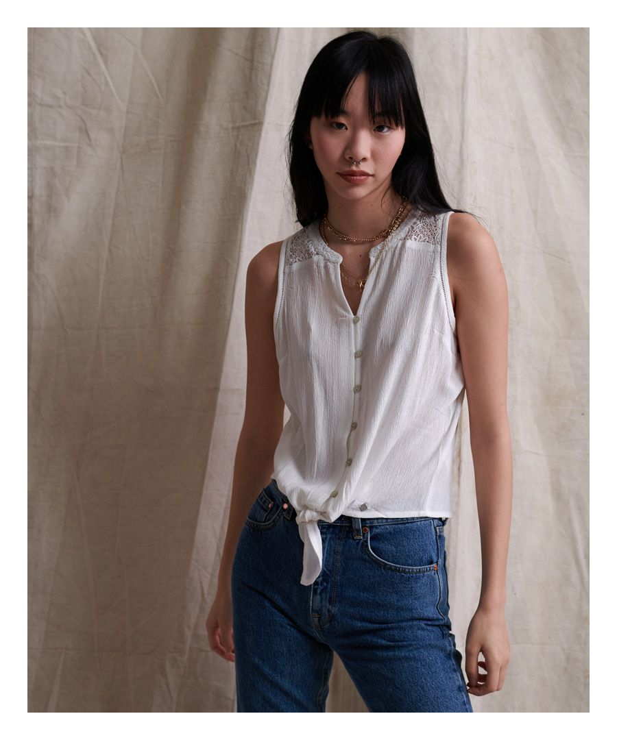 Image for Superdry Morgan Lace Blouse