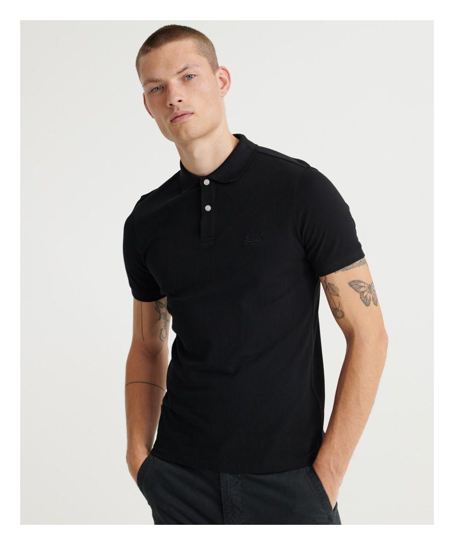 Image for Superdry Organic Cotton Micro Lite Pique Polo Shirt