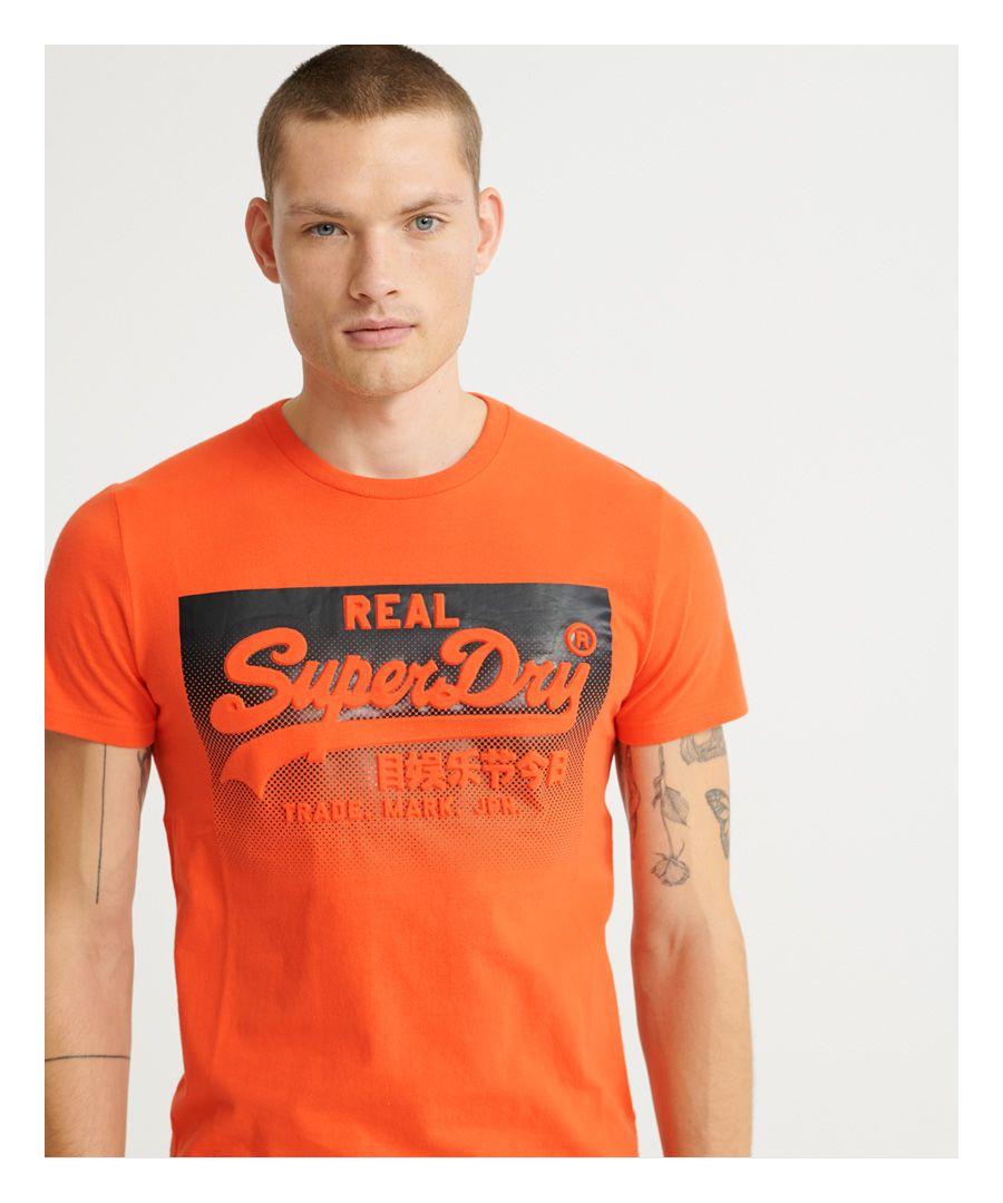 Image for Superdry Vintage Logo Halftone Embossed T-Shirt
