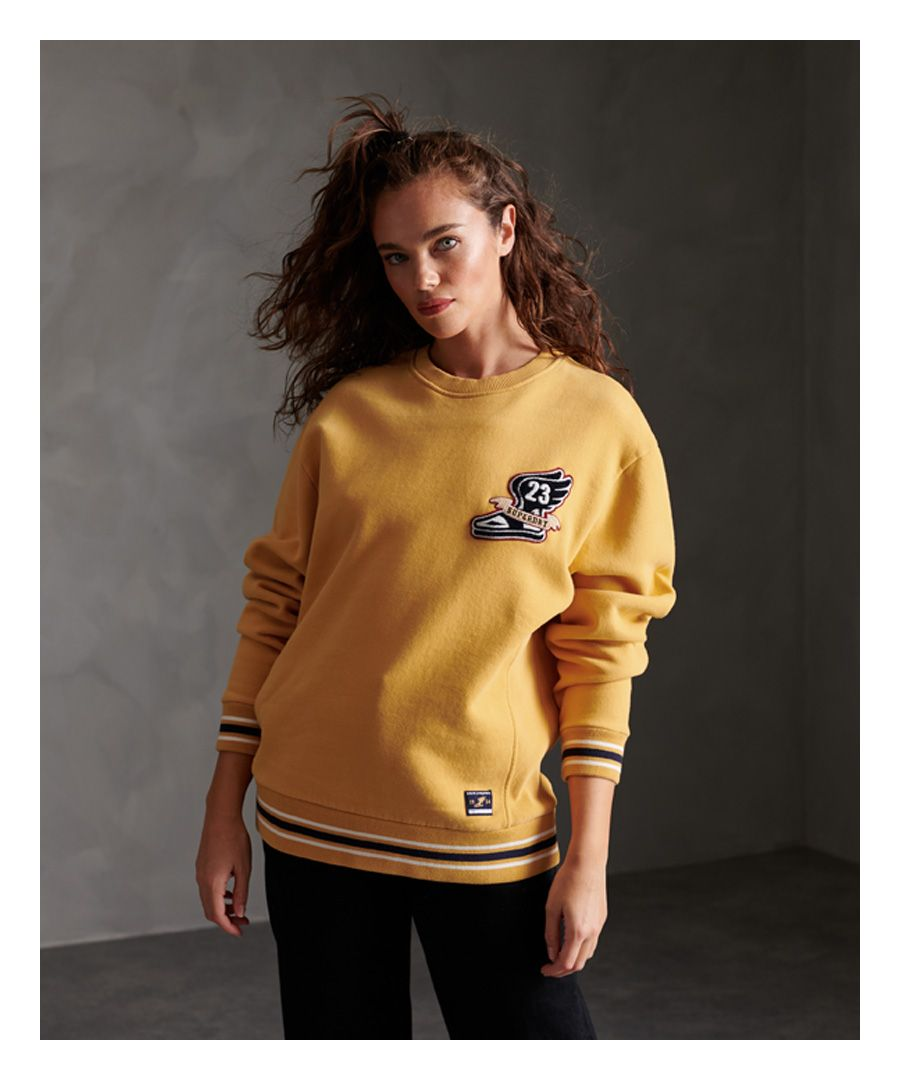 Image for Superdry Contemporary Varsity Chenielle Crew Sweatshirt