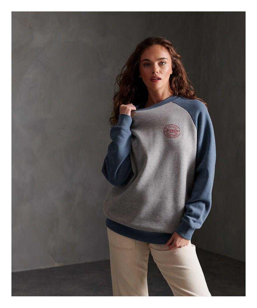 Image for Superdry Workwear Stamp Raglan Crew Sweatshirt