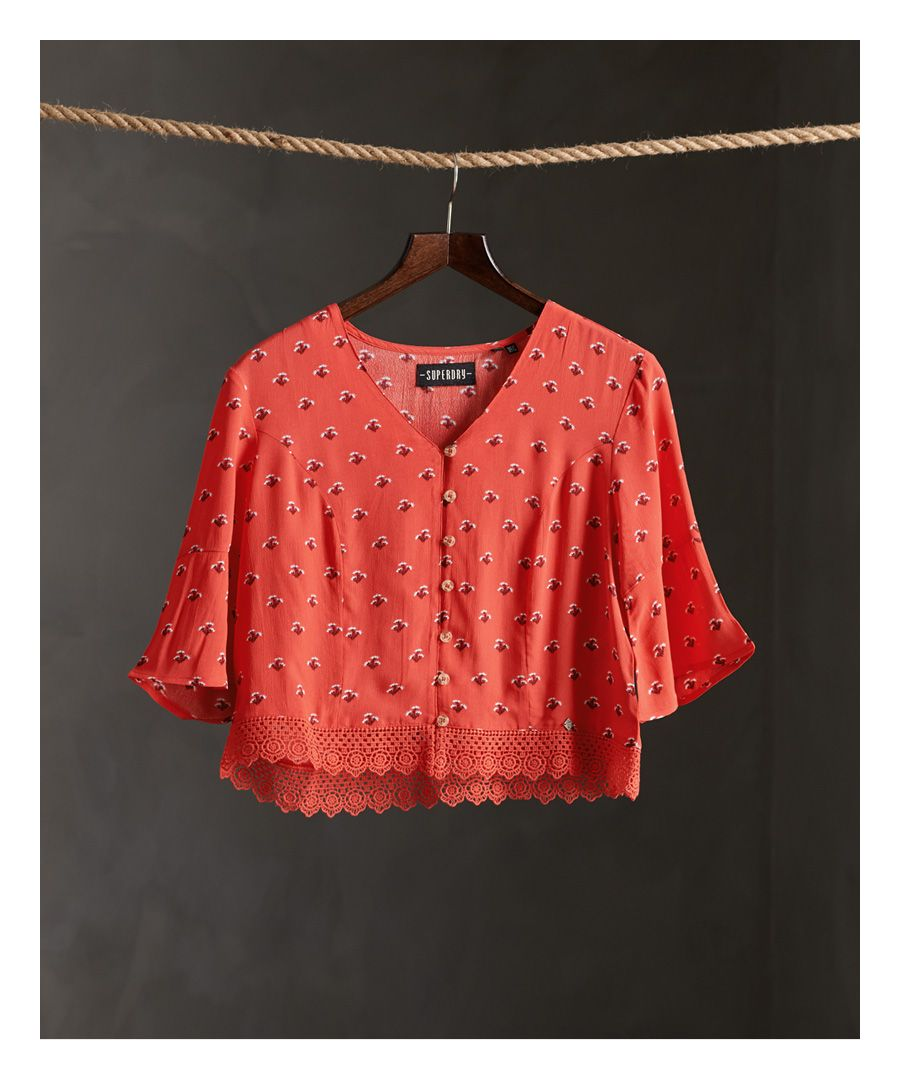 Image for Superdry Sunny Lace Top