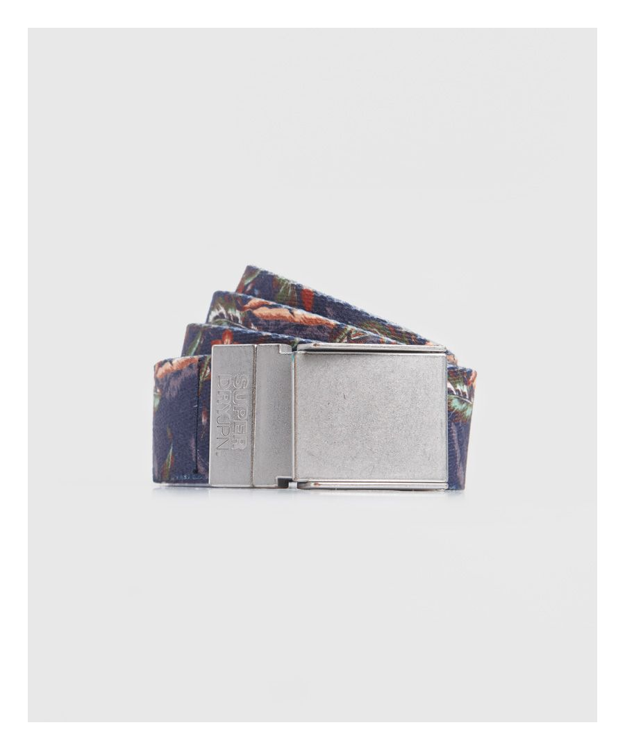 Image for Superdry Reversible Printed Canvas Belt