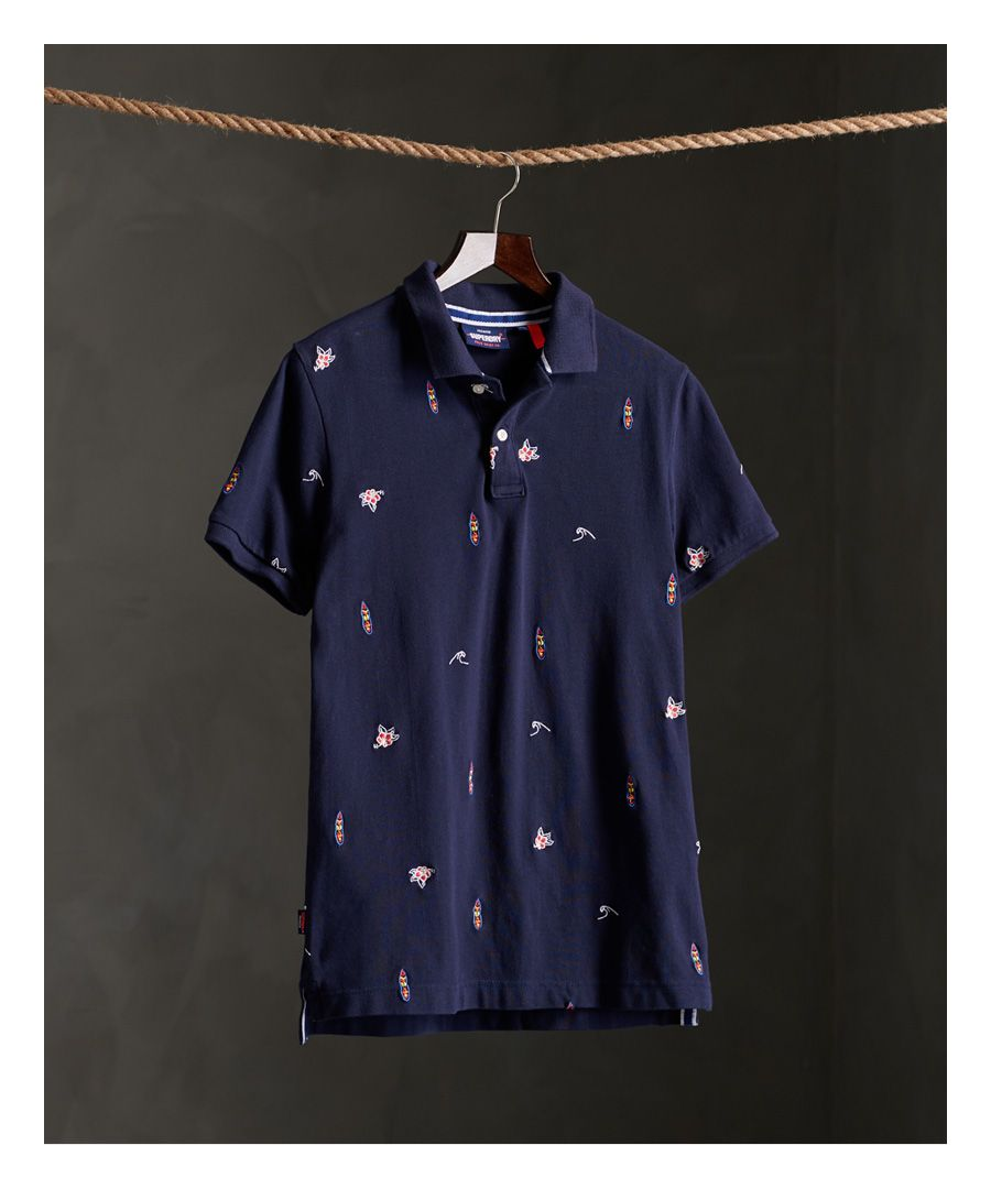 Image for Superdry Classic Embroidered Pique Polo SHirt