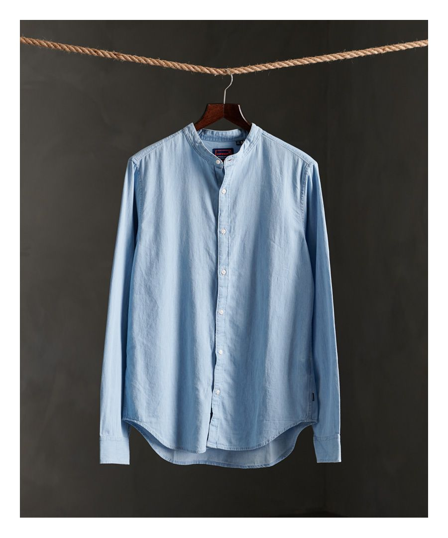 Image for Superdry Classic Twill Lite Grandad Shirt