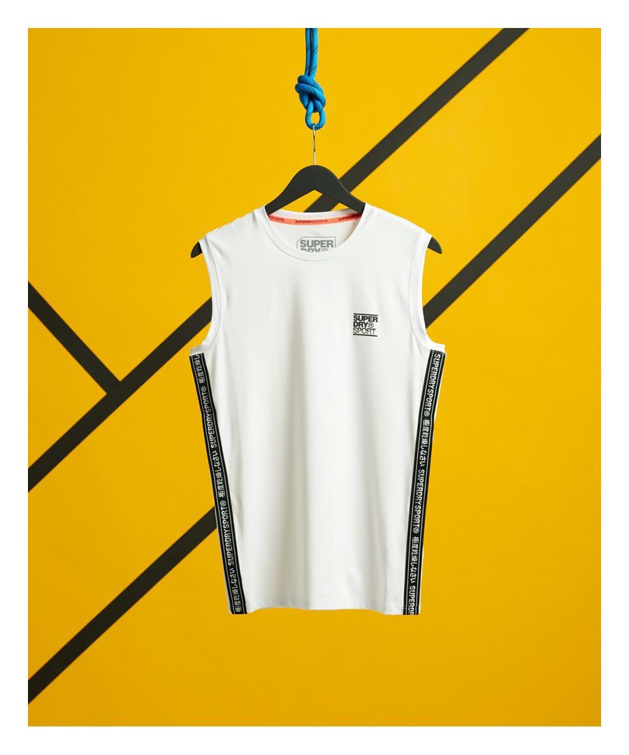 Image for Superdry Training Slim Fit Taped Tank Top