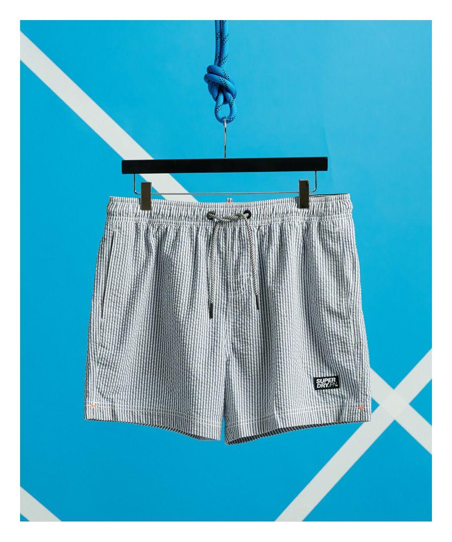 Image for Superdry Volley Seersucker Swim Shorts
