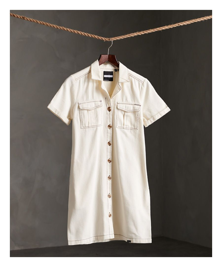 Image for Superdry Kaya Utility Shirt Dress