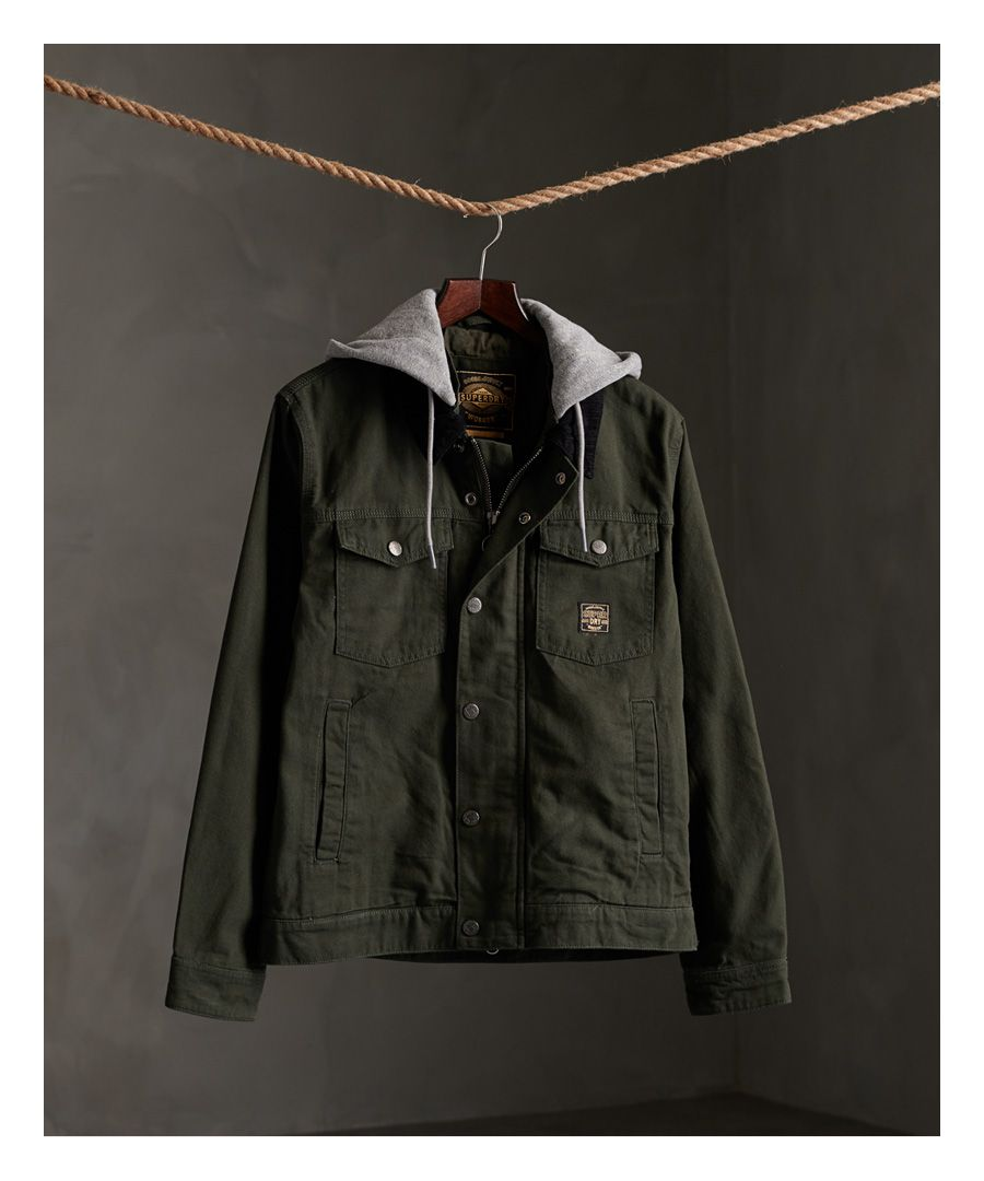 Image for Superdry Canvas Hooded Hacienda Trucker Jacket