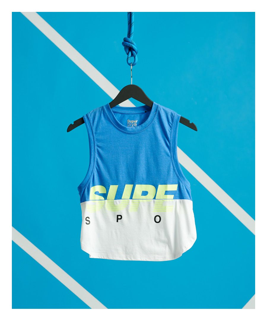 Image for Superdry Training Graphic Block Vest Top