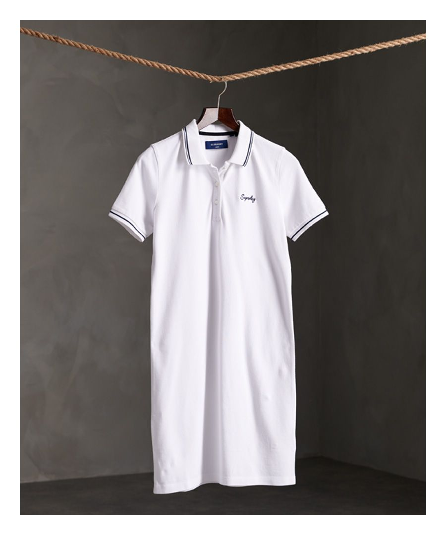 Image for Superdry Organic Cotton Polo Dress