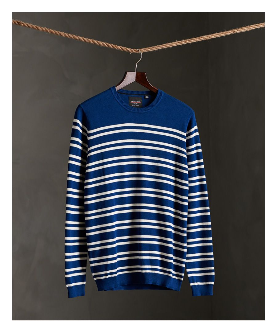 Image for Superdry Edit Supima® Stripe Crew Jumper