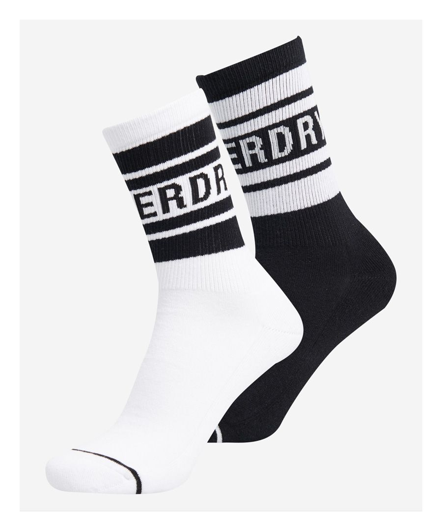 Image for Superdry Organic Cotton NYC Mono Sock 2 Pack