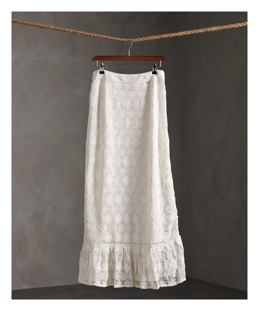 Image for Superdry Morgan Lace Maxi Skirt