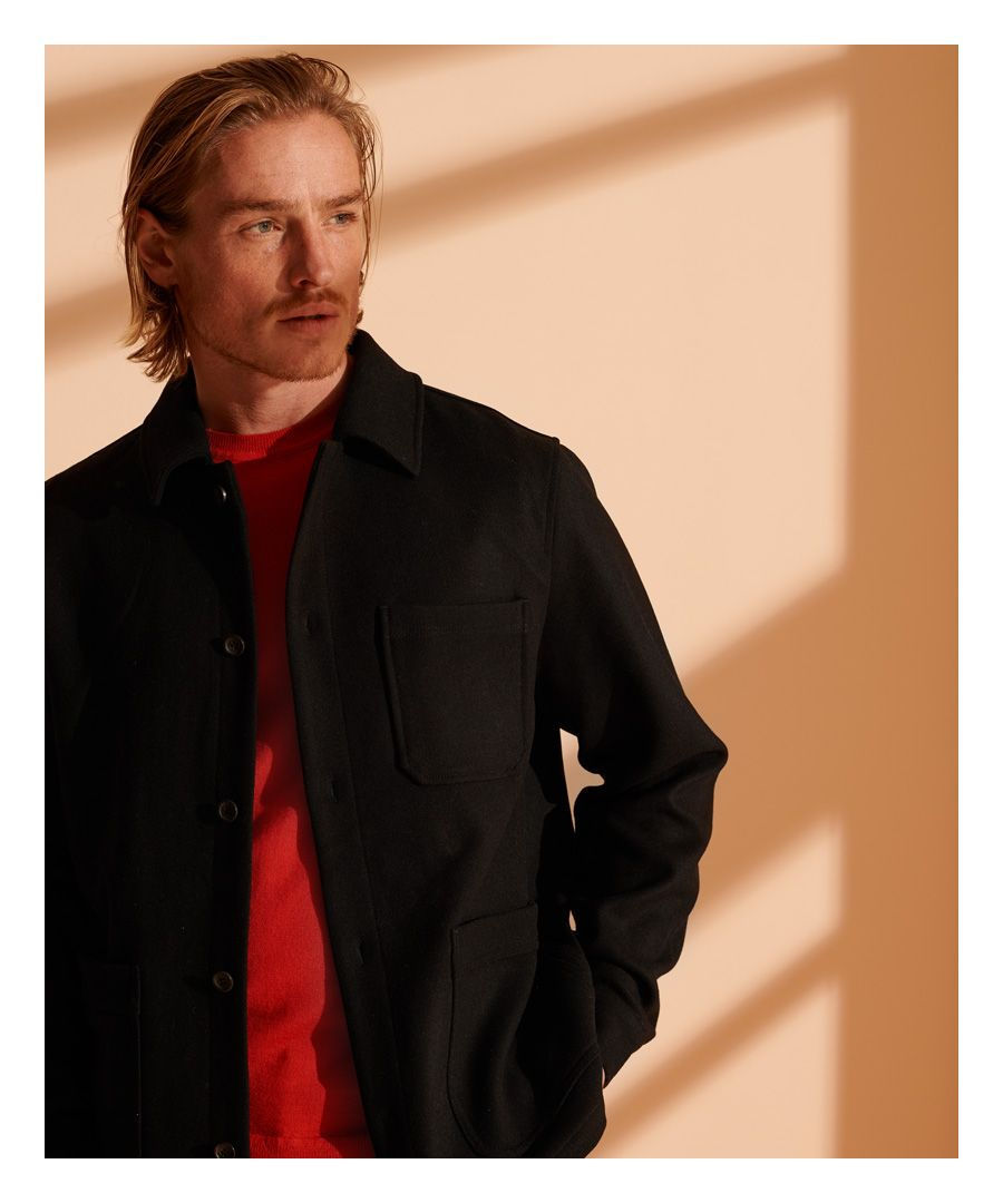 Image for Superdry Utility Wool Over Shirt
