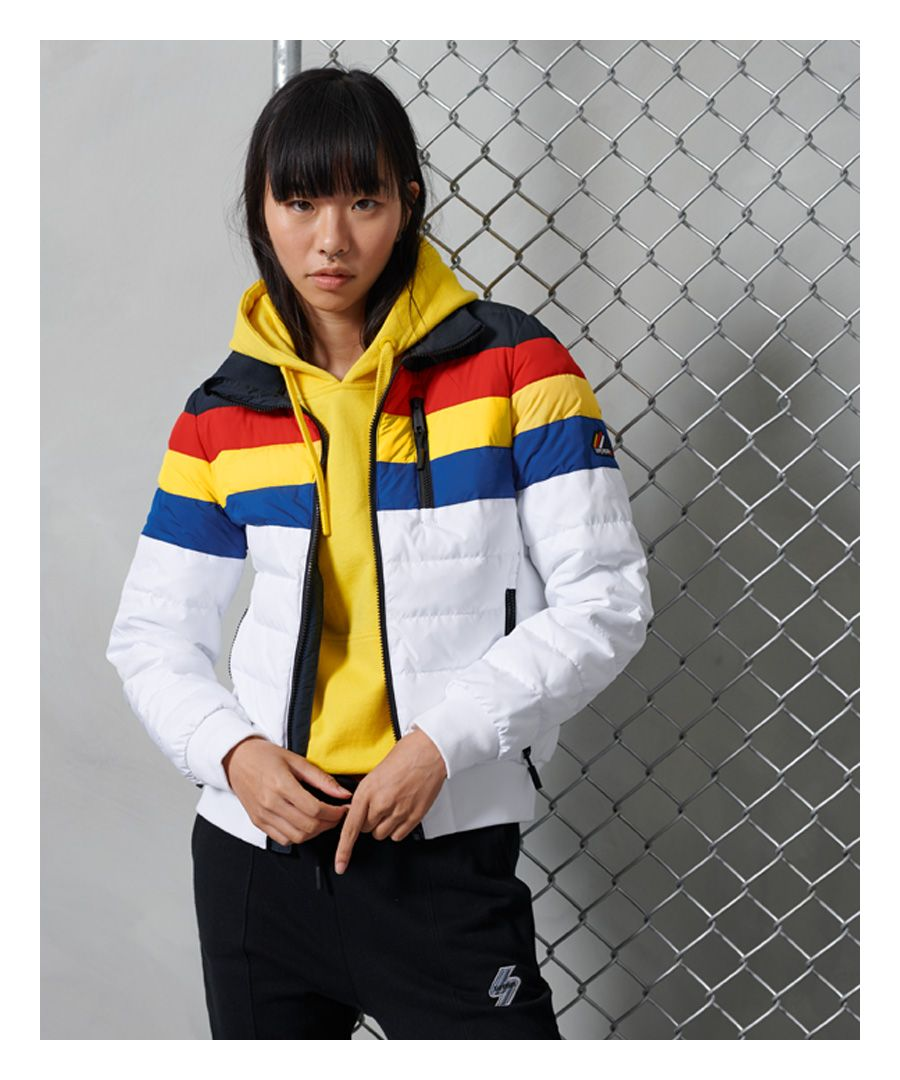 Image for Superdry Colourblock Fuji Bomber Jacket