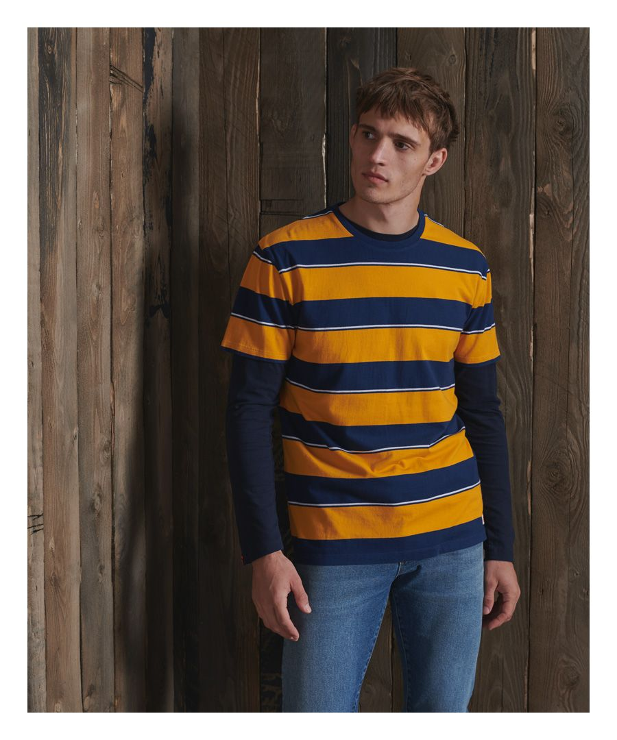 Image for Superdry Organic Cotton R&P Box Fit Stripe T-Shirt