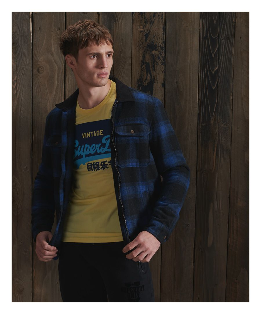 Image for Superdry Hunting Zip Through Wool Overshirt