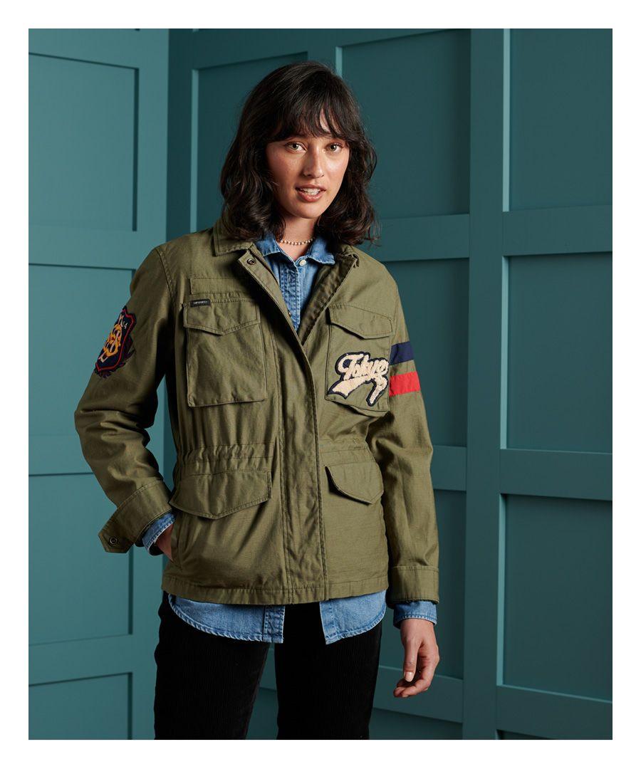 Image for Superdry Longline Varsity Rookie Jacket