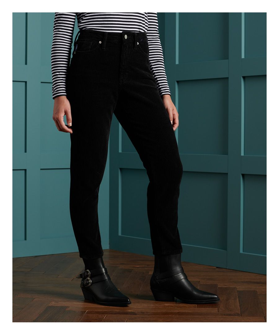 Image for Superdry High Slim Taper Cord Trousers