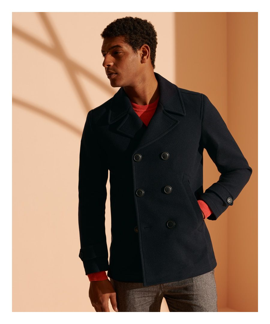 Image for Superdry Foundation Double Breasted Peacoat