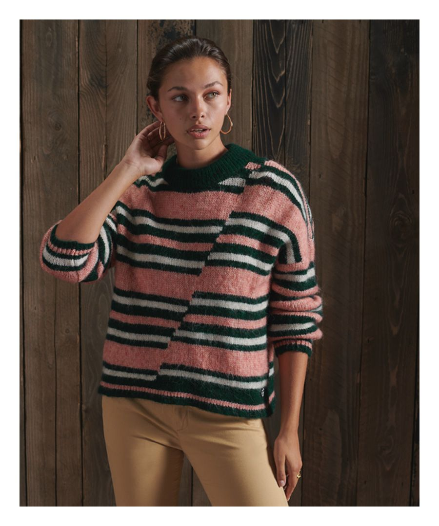 Image for Superdry Chunky Mismatched Stripe Crew Jumper