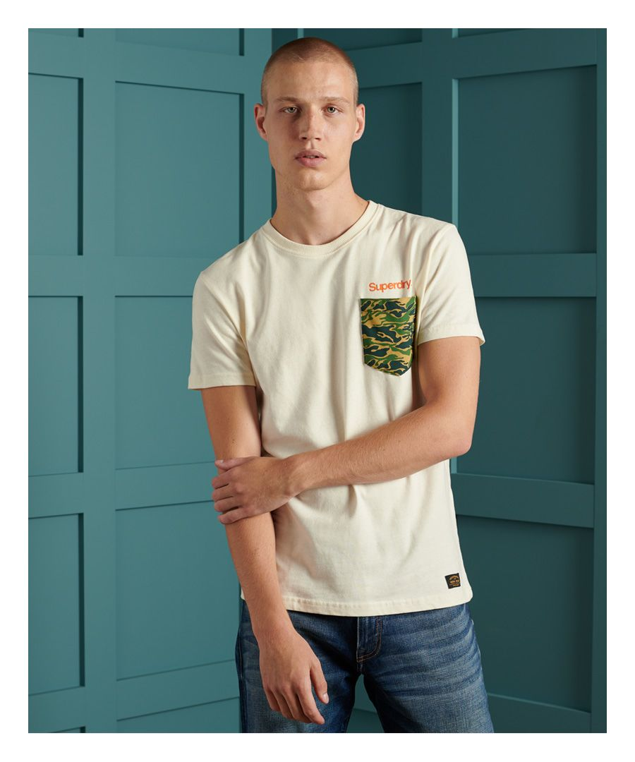 Image for Superdry Core Logo Canvas T-Shirt