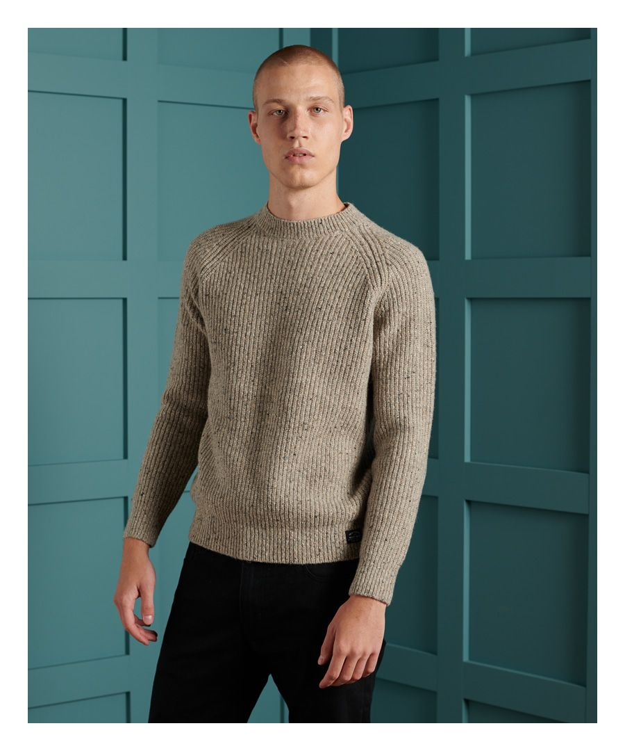 Image for Superdry Tweed Rib Crew Jumper