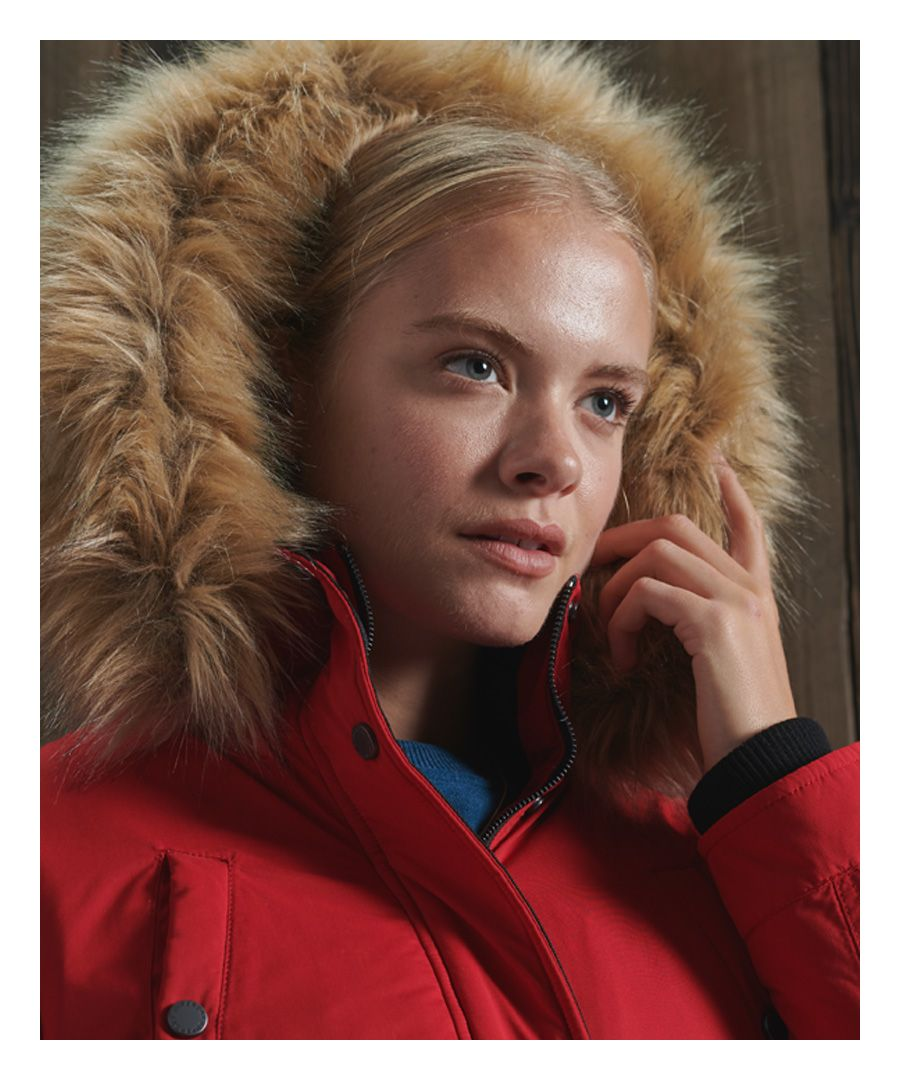 Image for Superdry Nadare Microfibre Parka Coat