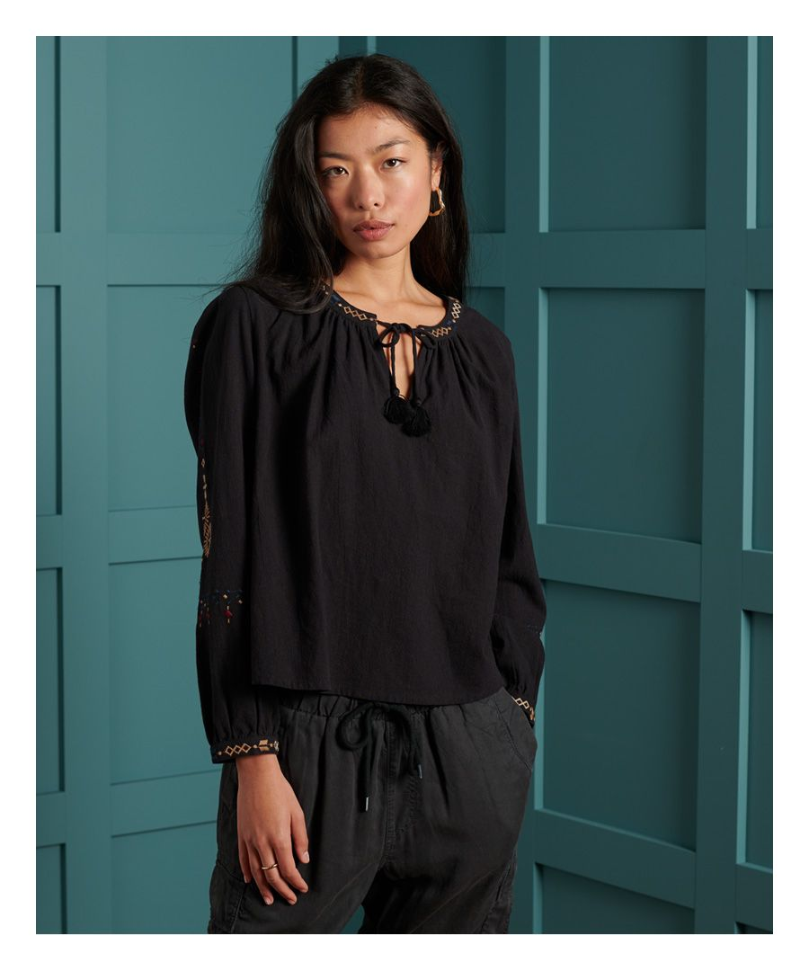 Image for Superdry Anisa Embroidered Top