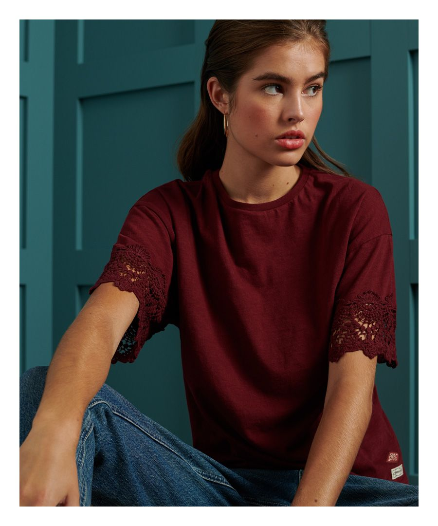 Image for Superdry Crafted Folk Lace T-Shirt