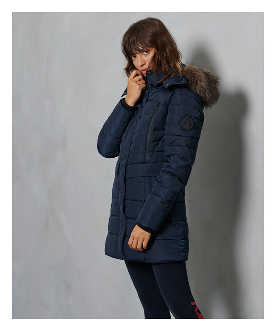 Image for Superdry Longline Glacier Parka Coat