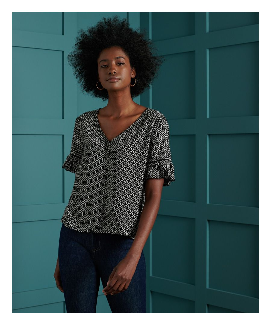 Image for Superdry Neia Button Up Top