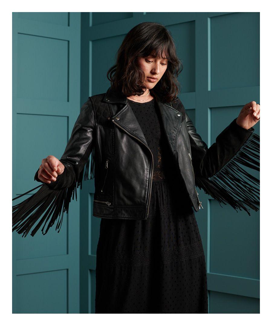 Image for Superdry Brooklyn Leather Biker Jacket