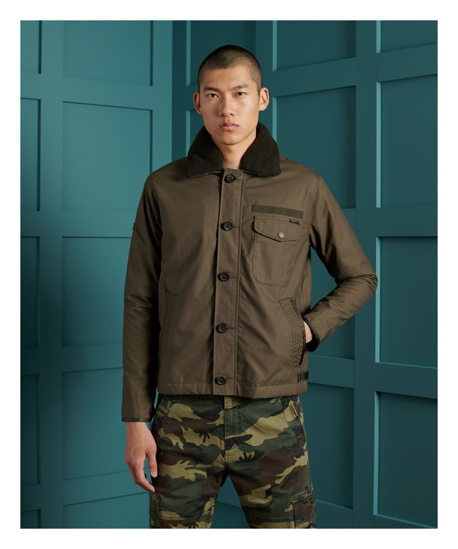 Image for Superdry Waxed Field Deck Jacket