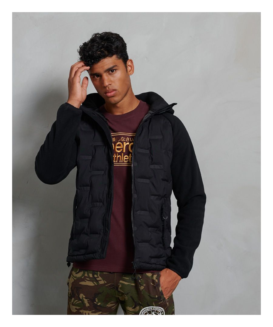 Image for Superdry Sonic City Hybrid Zip Through Jacket