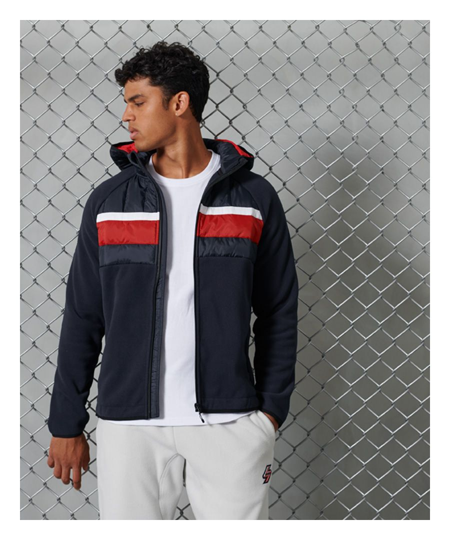 Image for Superdry Chestband Hybrid Zip Through Jacket