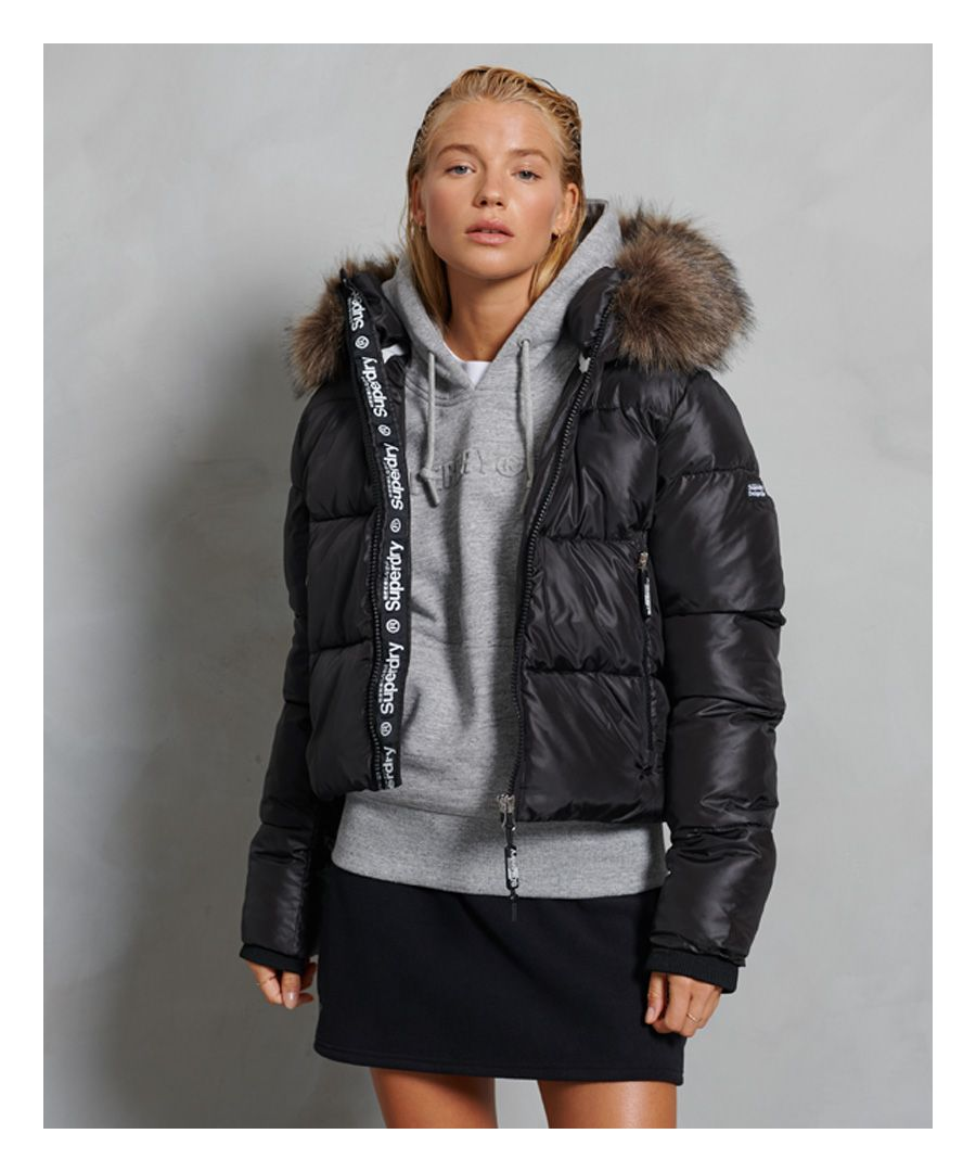 Image for Superdry Sport Puffer Borg Crop Jacket