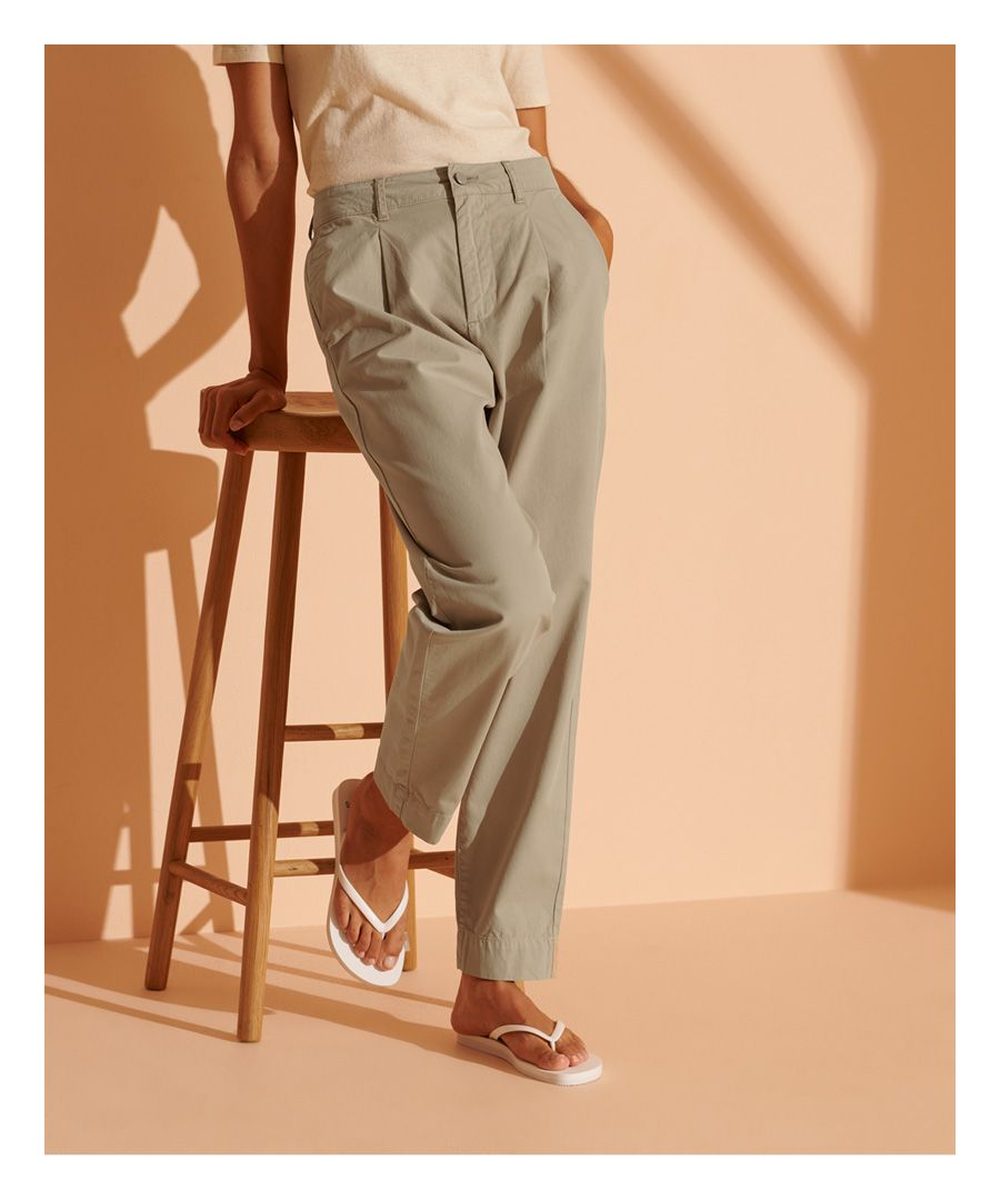 Image for Superdry Wide Taper Pleated Trousers
