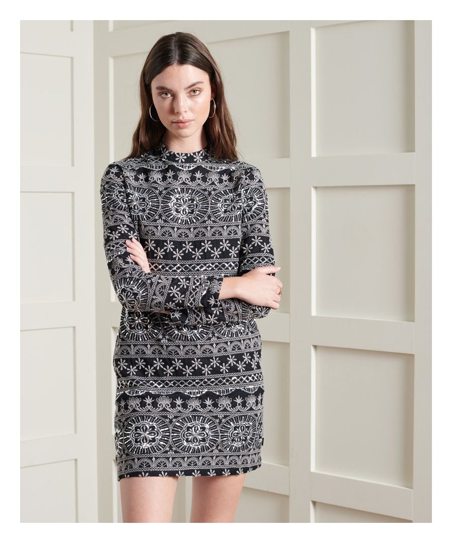 Image for Superdry Embroidered Shift Dress