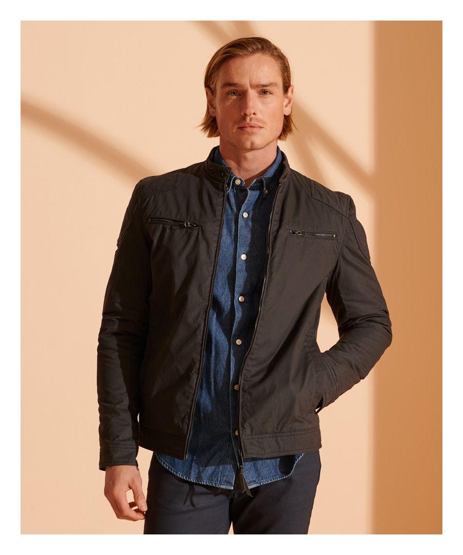 Image for Superdry Wax Biker Jacket