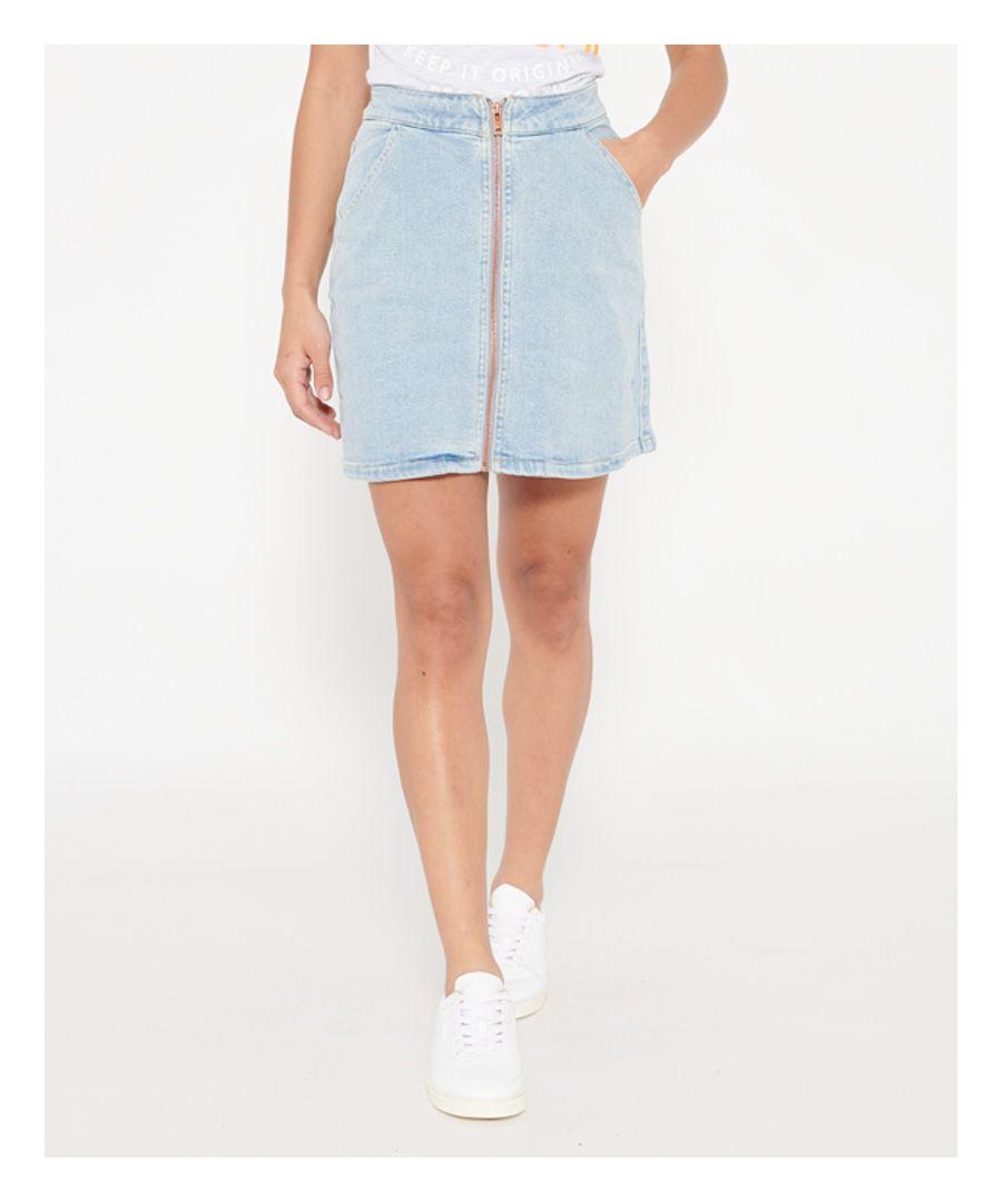 Image for Superdry Kim Zipped Mini Skirt