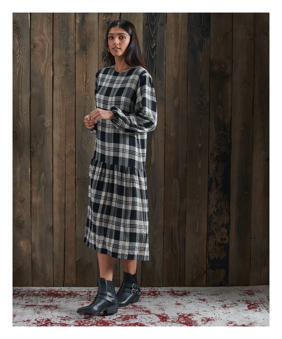Image for Superdry Mia Midi Check Dress