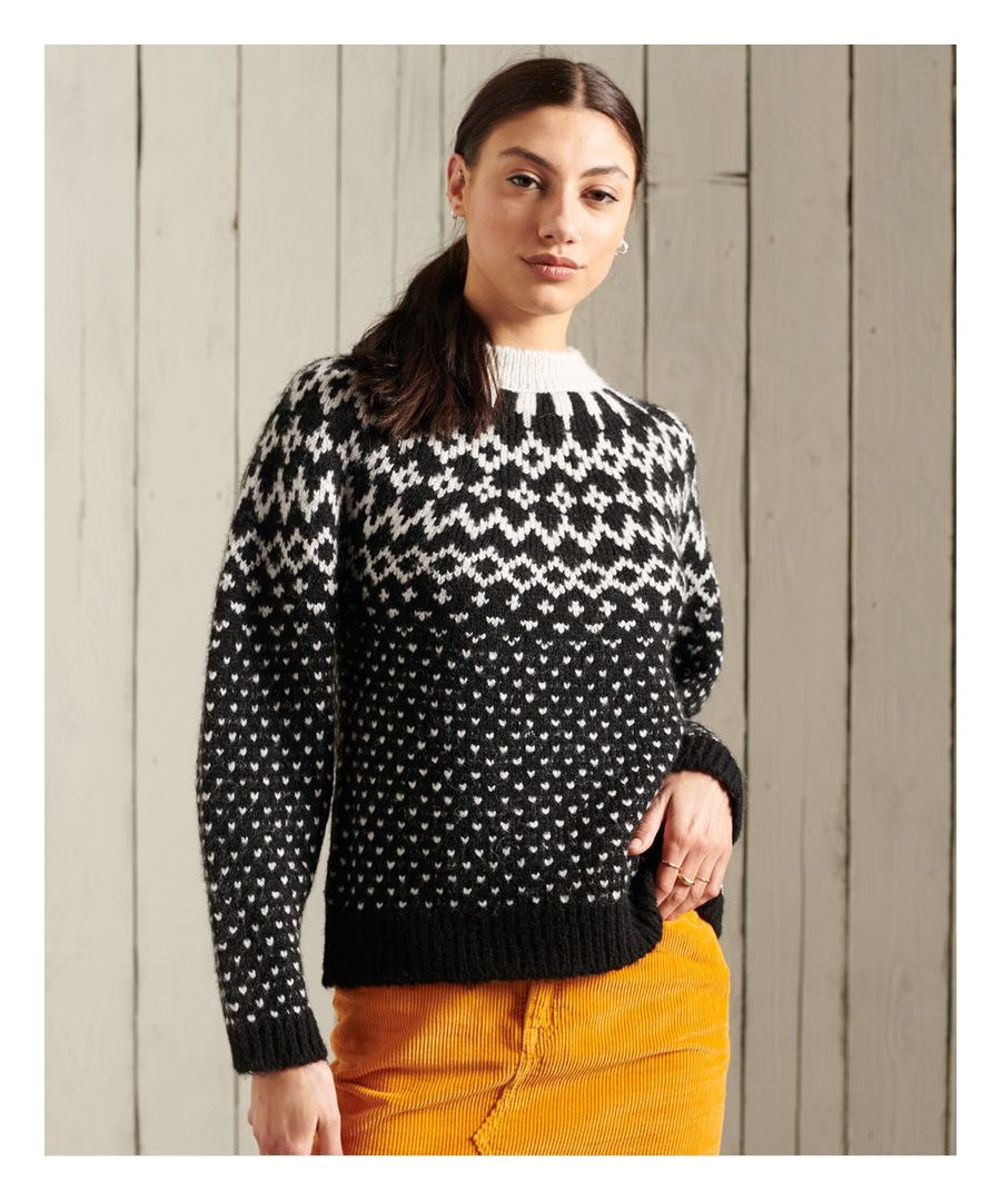 Image for Superdry Chunky Jacquard Crew Jumper