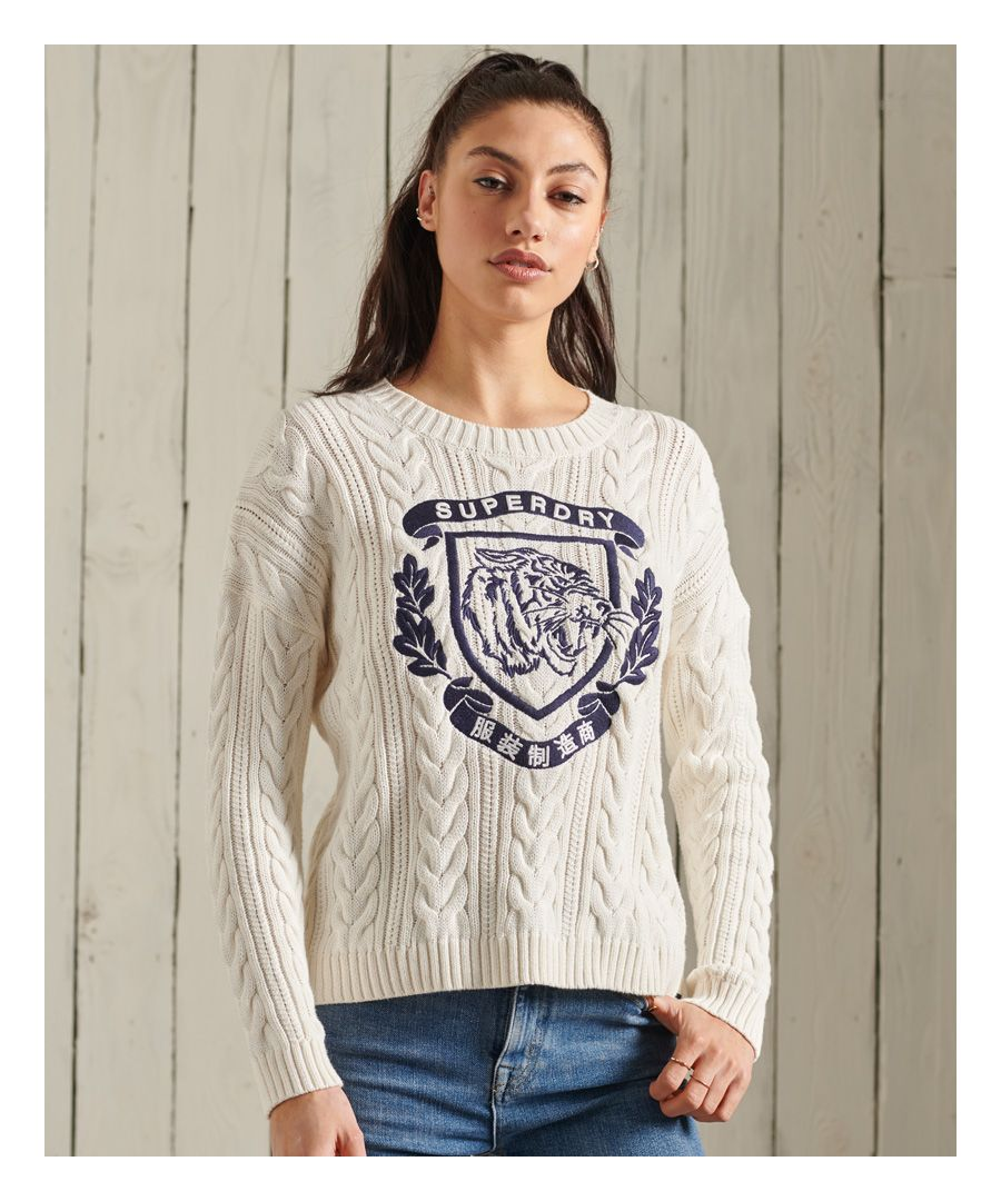 Image for Superdry College Cable Crew Jumper