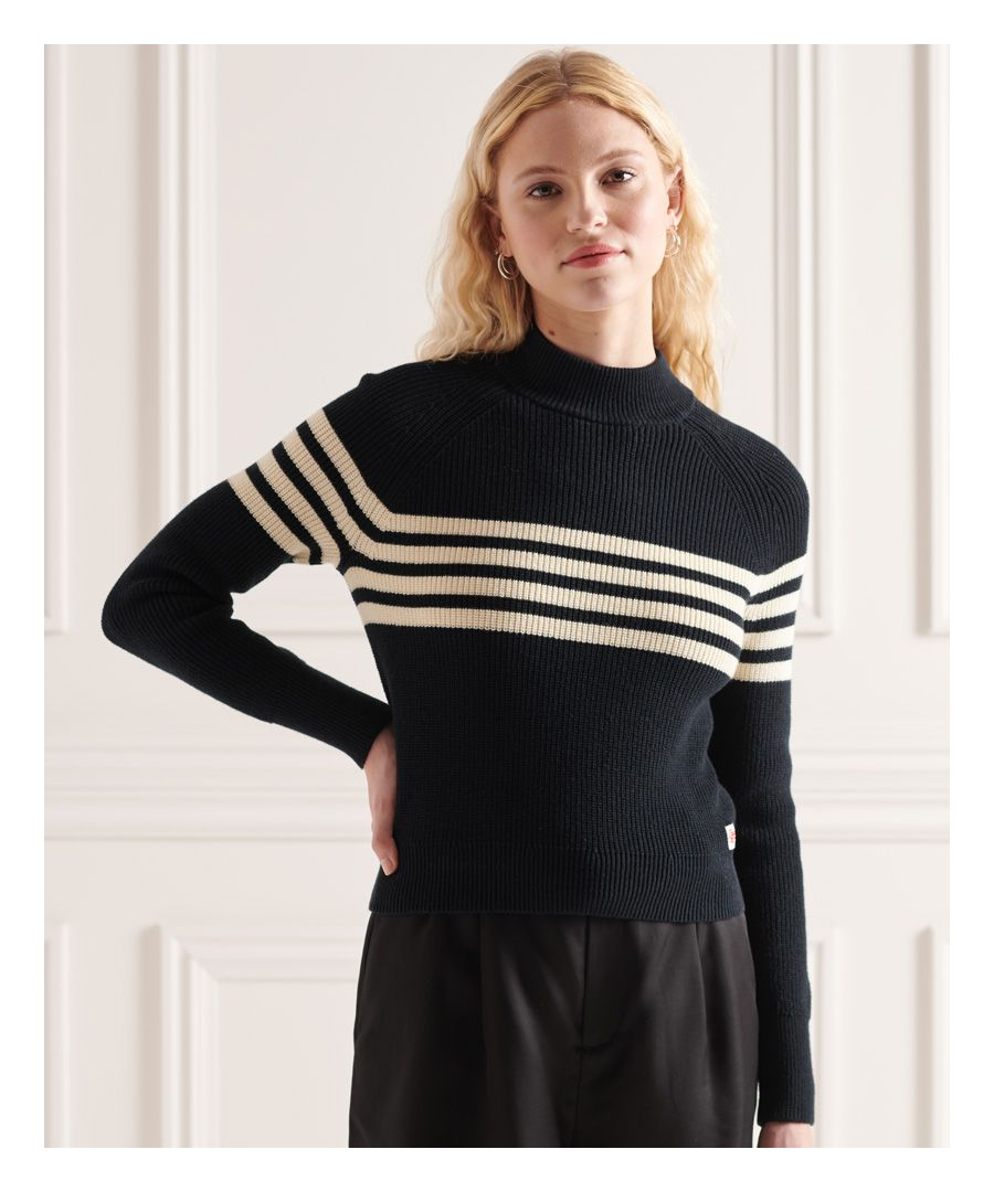 Image for Superdry Whitaker Stripe Crew Jumper
