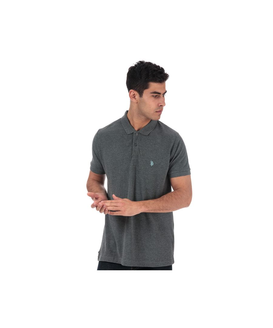 Image for Men's US Polo Assn King Polo Shirt in Grey Marl